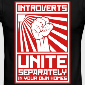 Introverts_unite_separately_in_your_own_ T-Shirts - Men's Ringer T-Shirt