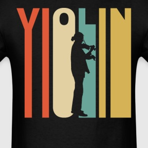 Retro 1970's Style Violin Player Silhouette - Men's T-Shirt