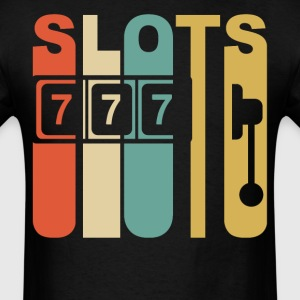 Retro 1970's Style Slot Machine Slots Gambling - Men's T-Shirt