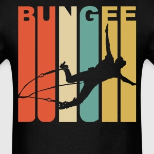 1970's Style Bungee Jumper Silhouette Jumping - Men's T-Shirt