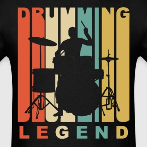 1970's Style Drumming Legend Retro Drummer - Men's T-Shirt