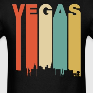 Retro Las Vegas Nevada Cityscape Downtown Skyline - Men's T-Shirt