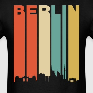 Retro Berlin Germany Cityscape Downtown Skyline - Men's T-Shirt