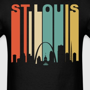 Retro 1970's St. Louis Missouri Downtown Skyline - Men's T-Shirt
