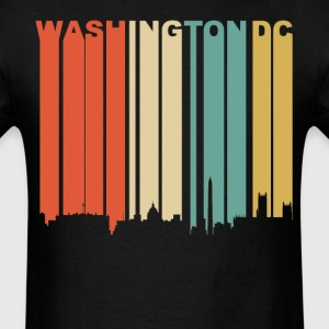Retro Washington DC Cityscape Downtown Skyline - Men's T-Shirt