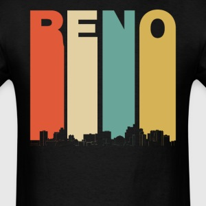 Vintage 1970's Style Reno Nevada Skyline - Men's T-Shirt