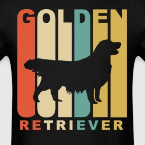 Vintage Style Golden Retriever Silhouette - Men's T-Shirt