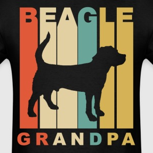 Retro Style Beagle Grandpa Dog Grandparent - Men's T-Shirt