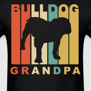Retro Style Bulldog Grandpa Dog Grandparent - Men's T-Shirt