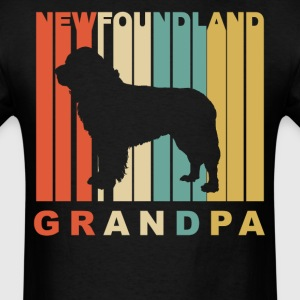 Retro Style Newfoundland Grandpa Dog Grandparent - Men's T-Shirt