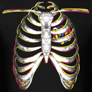 Rubik's Cube Colourful Ribcage - Men's T-Shirt