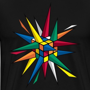 Rubik's Cube Colourful Spikes - Men's Premium T-Shirt