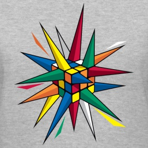 Rubik's Cube Colourful Spikes - Women's V-Neck T-Shirt
