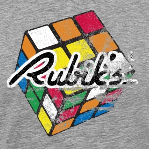 Rubik's Cube Distressed and Faded - Men's Premium T-Shirt