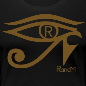 RandM's Eye Of Horus Gold Glitter - Womens Black t - Women's Premium T-Shirt
