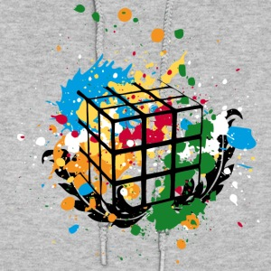 Rubik's Cube Colourful Splatters - Women's Hoodie