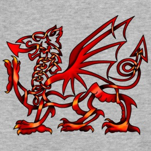Celtic Knot Welsh Dragon - Fitted Cotton/Poly T-Shirt by Next Level