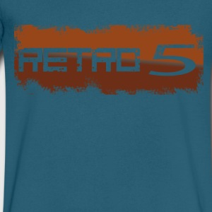 Retro..5 - Men's V-Neck T-Shirt by Canvas