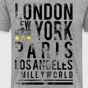 SmileyWorld Cities London NY Paris LA - Men's Premium T-Shirt