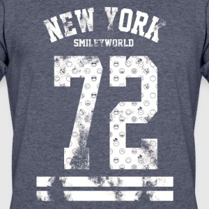 SmileyWorld New York City 72 White - Men's 50/50 T-Shirt