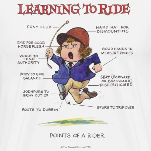 Thelwell Points Of A Rider Learning - Men's Premium T-Shirt