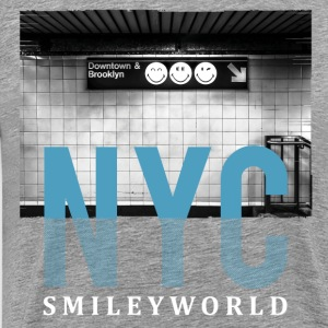 SmileyWorld New York City Downtown Brooklyn - Men's Premium T-Shirt