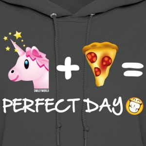 SmileyWorld Unicorn Plus Pizza Equals Perfect Day - Women's Hoodie