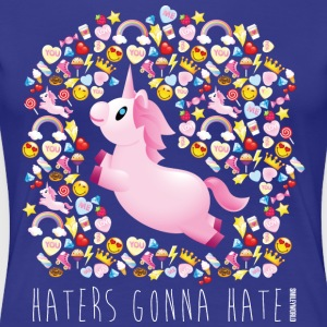 SmileyWorld Unicorn Haters Gonna Hate - Women's Premium T-Shirt