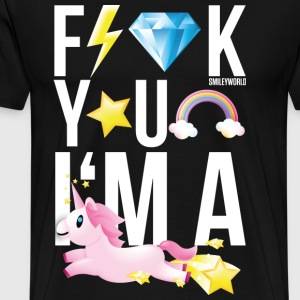 SmileyWorld F*** You I Am A Unicorn - Men's Premium T-Shirt