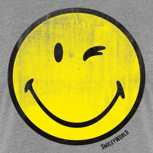 SmileyWorld Classic Winking Smiley - Women's Premium T-Shirt