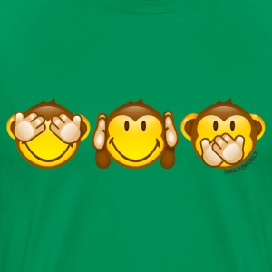 SmileyWorld Three Mystic Apes - Men's Premium T-Shirt