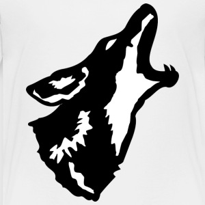 Howling Coyote - Black - Kid's - Kids' Premium T-Shirt