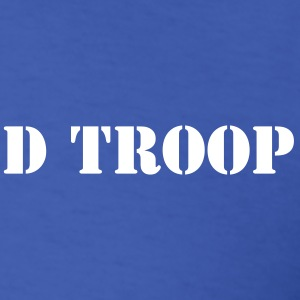 D Troop Chest Logo BLUE - Men's T-Shirt
