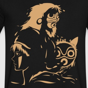 Princess and Her Mask - Men's V-Neck T-Shirt by Canvas