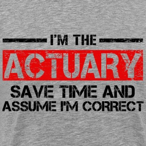 Actuary T-Shirts - Men's Premium T-Shirt