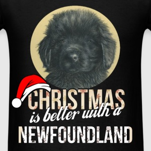 Newfoundland - Christmas is better with a Newfound - Men's T-Shirt