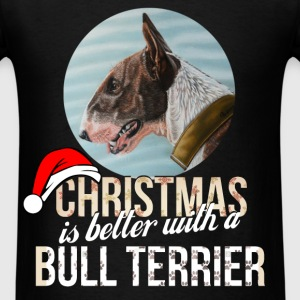 Bull terrier - Christmas is better with a Bull Ter - Men's T-Shirt
