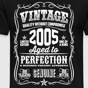 2005 Aged to Perfection White print - Men's Premium T-Shirt