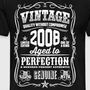 2008 Aged to Perfection White print - Men's Premium T-Shirt