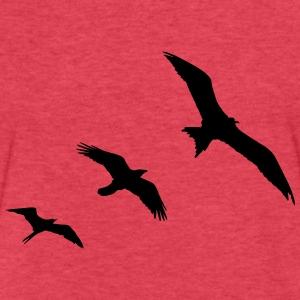 Birds T-Shirts - Fitted Cotton/Poly T-Shirt by Next Level