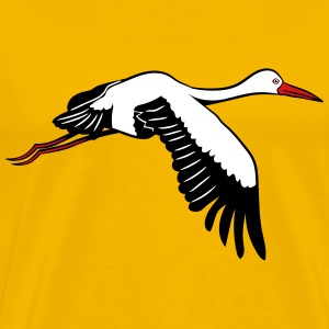 Stork fly wing bird T-Shirts - Men's Premium T-Shirt
