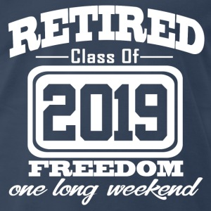 retired 2019 3434343.png T-Shirts - Men's Premium T-Shirt