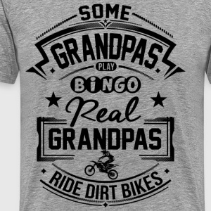 Grandpas Ride Dirt Bike T-Shirts - Men's Premium T-Shirt