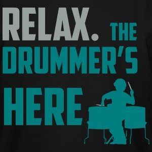 Relax the Drummer is here design for drummers T-Shirts - Men's Tall T-Shirt