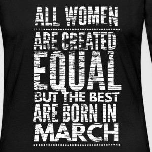 birthday shirt march design for women Long Sleeve Shirts - Women's Premium Long Sleeve T-Shirt