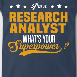 Research Analyst - Men's Premium T-Shirt