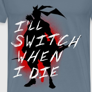 I'll Switch When I Die, Men's Hanzo White - Men's Premium T-Shirt