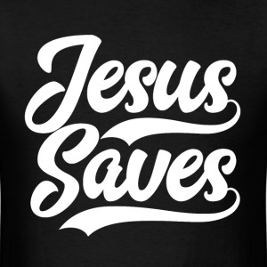 Jesus Saves Bible Scripture Verse Christian Gift - Men's T-Shirt