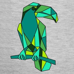 Green Origami Toucan  - Baby Contrast One Piece