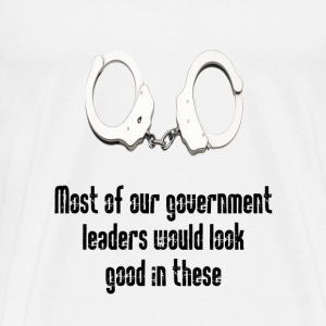 Cuffs for government crooks  - Men's Premium T-Shirt